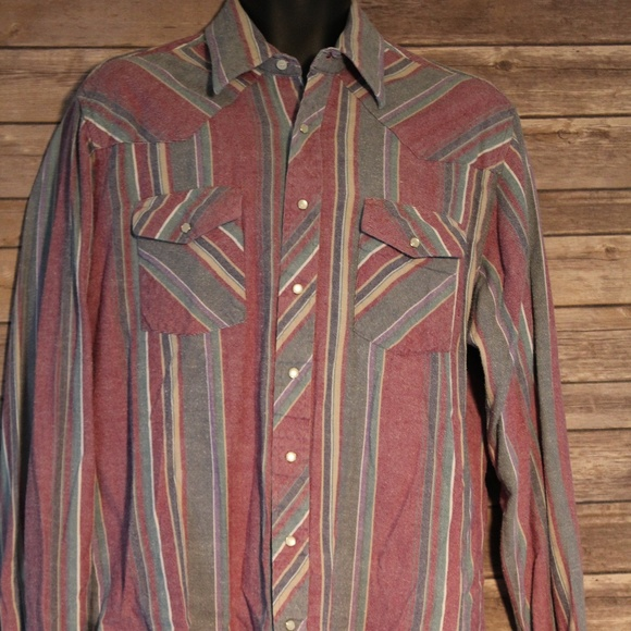 0475b219 Wrangler Mens LT Large Tall Long Sleeve Pearl Snap.  M_5bdb48dd7386bcea828fdc01. Other Shirts you may like. Wrangler Pinstripe Plaid  Pearl Snap Western Shirt